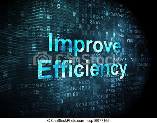 negócio, eficiência, fundo, digital, concept:, melhorar - csp16977165
