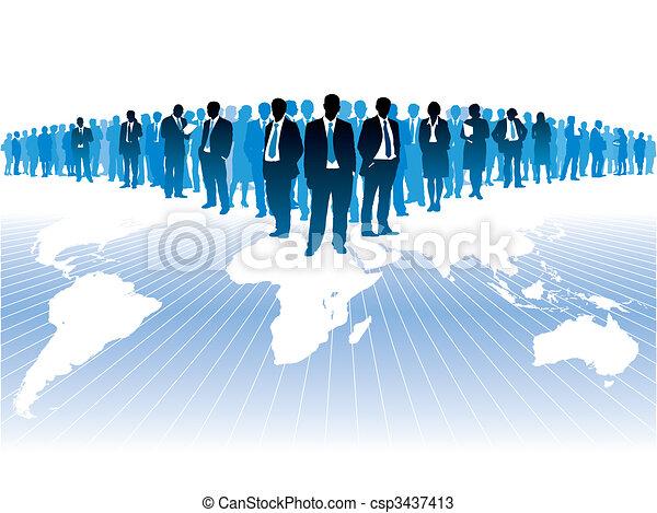 negócio global - csp3437413