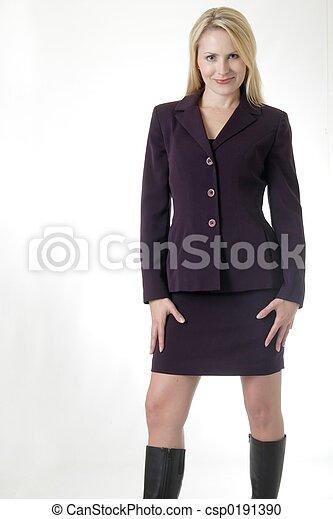 negócio mulher, paleto - csp0191390