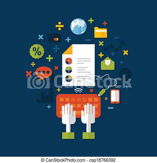 negócio, online - csp18766392