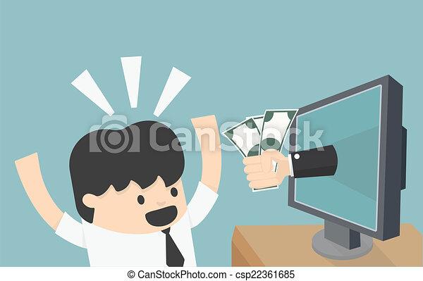 negócio, online - csp22361685