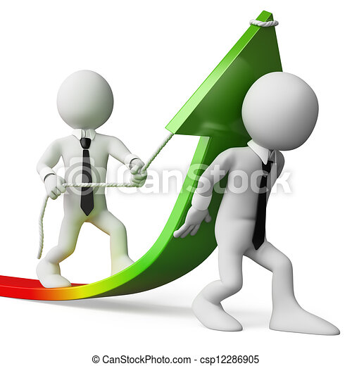 negócio, pessoas., vendas, crescimento, branca, 3d - csp12286905