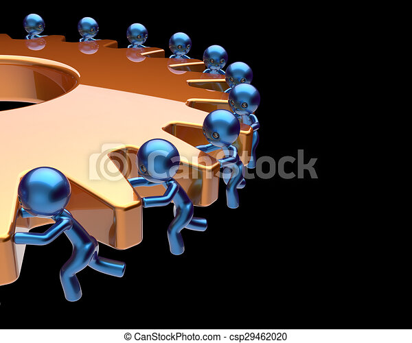 negócio, processo, cogwheel, sociedade, gearwheel, trabalho equipe - csp29462020