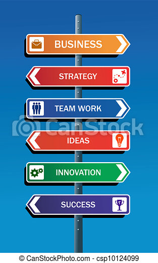 negócio, sucesso, estratégia - csp10124099
