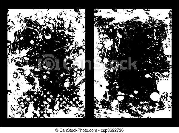 Negative ink splat frame - csp3692736