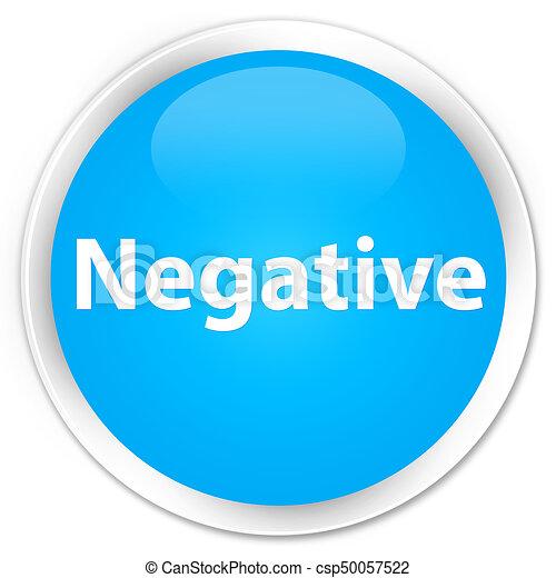 Negative premium cyan blue round button - csp50057522
