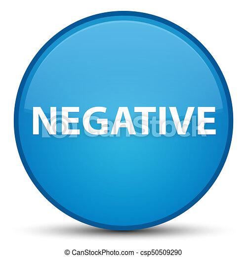 Negative special cyan blue round button - csp50509290