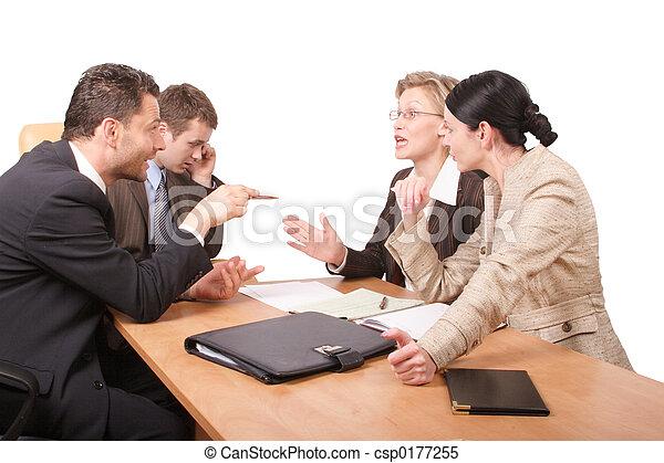 negociação, negócio - csp0177255