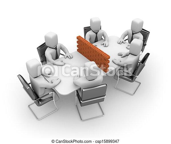 Difícil negociación - csp15899347