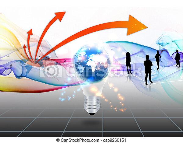 El mundo de los negocios - csp9260151