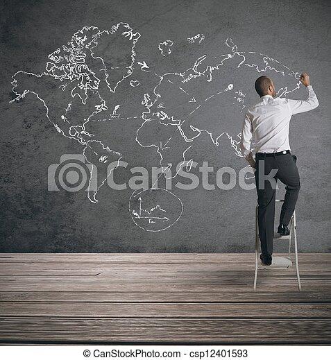Negocios globales - csp12401593
