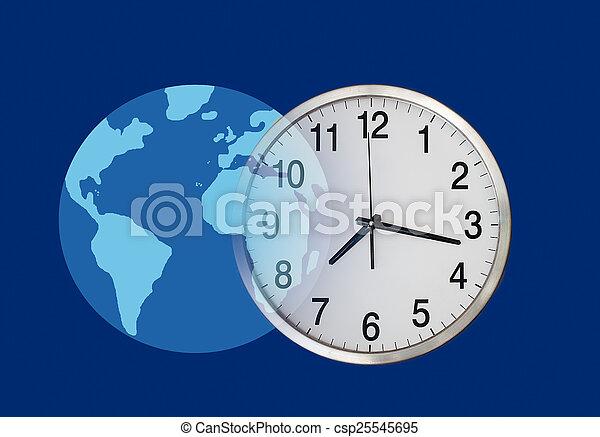 Hora de negocios global - csp25545695