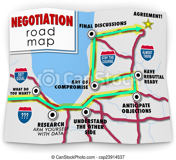 Negotiation Road Map Directions Agreement Common Benefit Goal - csp23914537