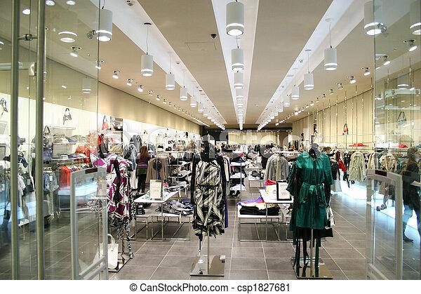 negozio, femmina, vestiti - csp1827681