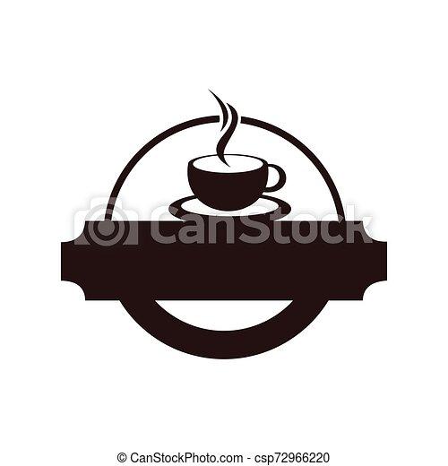 negozio, logotipo, caffè, disegno, sagoma - csp72966220