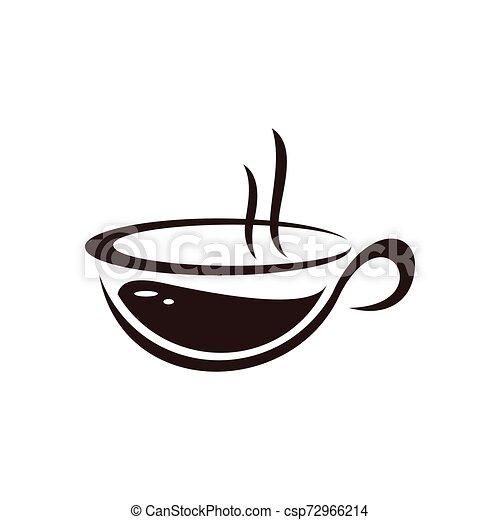 negozio, logotipo, caffè, disegno, sagoma - csp72966214