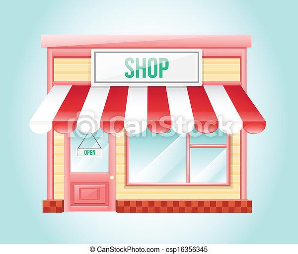 negozio, mercato, icona - csp16356345