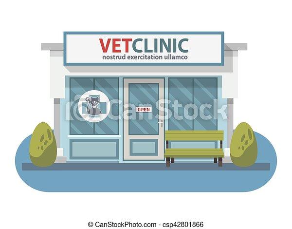 negozio, ospedale, coccolare, veterinario, animals., clinica, medicina, o - csp42801866
