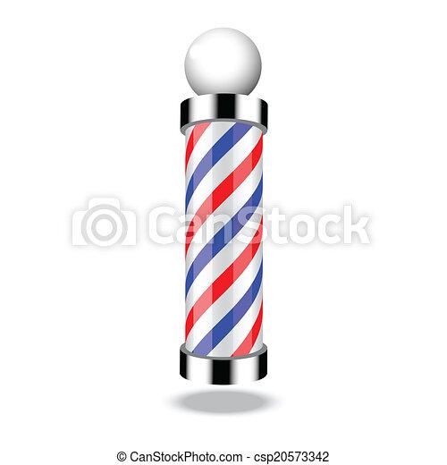 negozio, polo, barbiere, classico - csp20573342