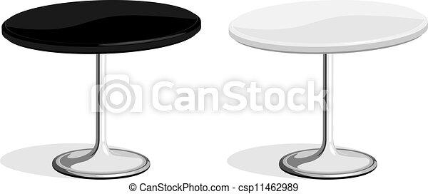 negozio, tavola, caffè, nero, bianco - csp11462989