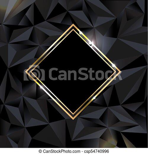 Antecedentes negros con estandarte dorado - csp54740996