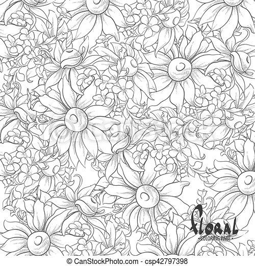 Girasoles negros y blancos - csp42797398