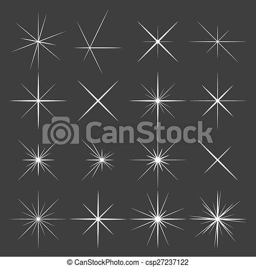 Un conjunto de estrellas brillantes en el fondo negro - csp27237122