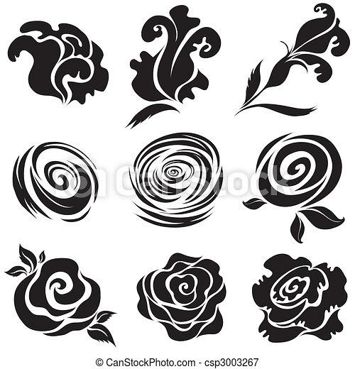 Flor de rosa negra - csp3003267