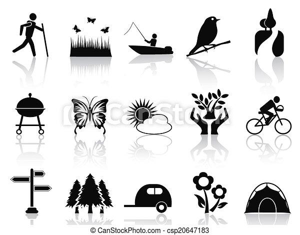 Black Park y los iconos del jardín - csp20647183