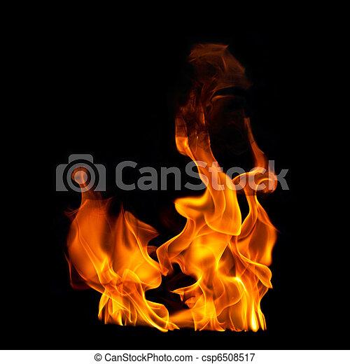 negro, fotográfico, llamas, plano de fondo - csp6508517