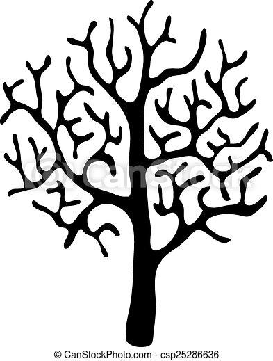 Negro Hojas Vector árbol Sin Vector Hojas árbol Ilustración
