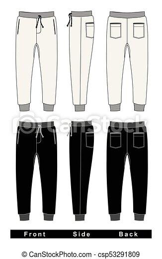 Los pantalones de los hombres son negros y blancos - csp53291809