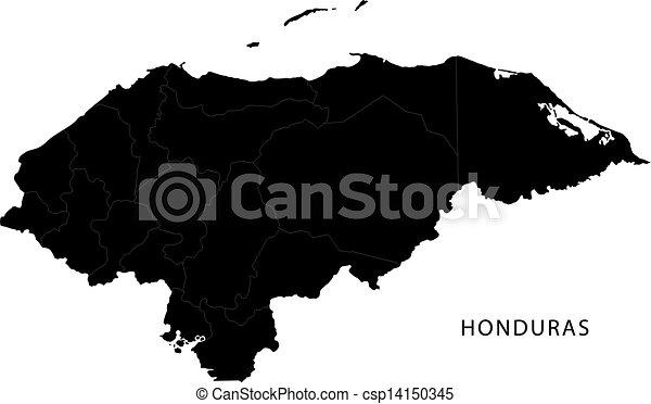 Mapa de Honduras Negras - csp14150345
