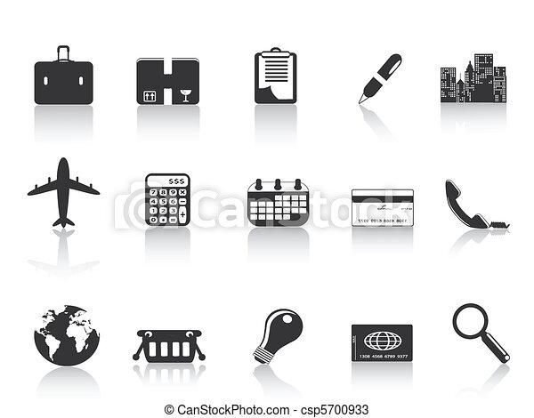 iconos de negocios negros - csp5700933