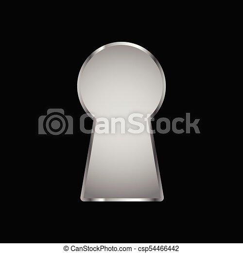 La cerradura del fondo negro - csp54466442