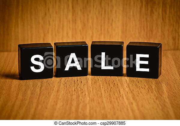 Palabra de ventas en el bloque negro - csp29907885