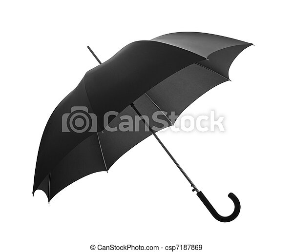 Sombrilla negra con camino de recorte - csp7187869
