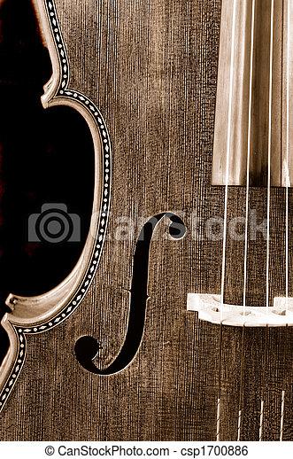 El primer plano de un violonchelo en un fondo negro - csp1700886