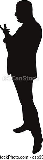 Siluetas negras de un hombre - csp33860749