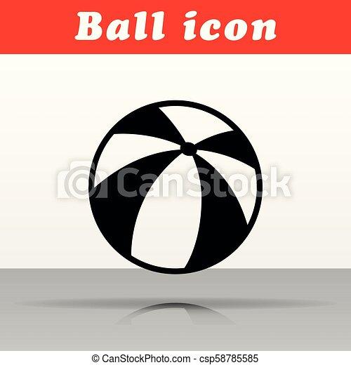 Diseño de iconos vectores de bola negra - csp58785585