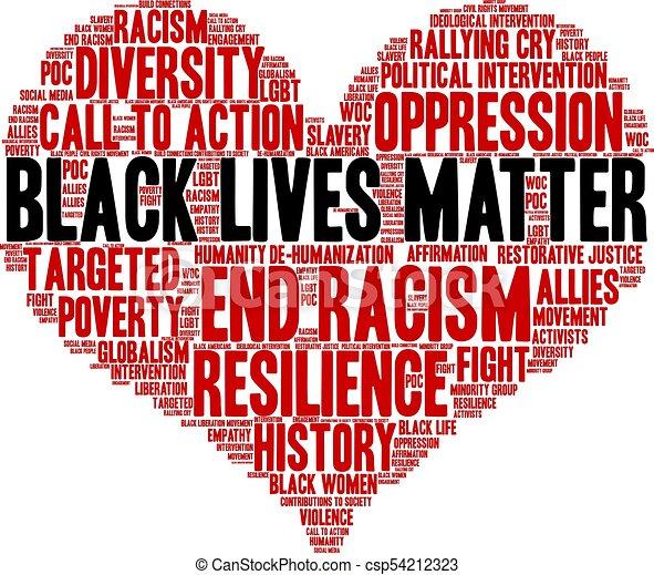 Las vidas negras importan - csp54212323