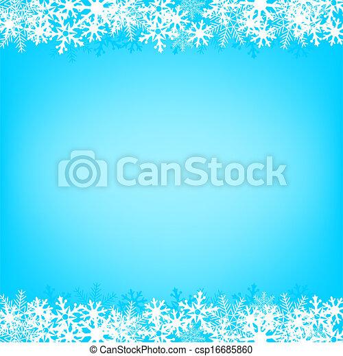 neige bleue, fond - csp16685860