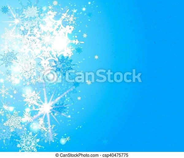 neige bleue, fond - csp40475775