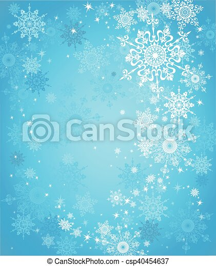 neige bleue, fond - csp40454637