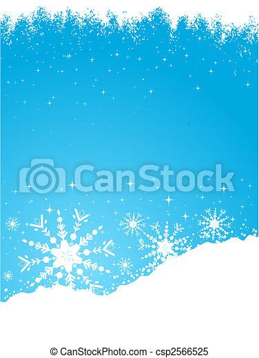 neigeux, fond - csp2566525
