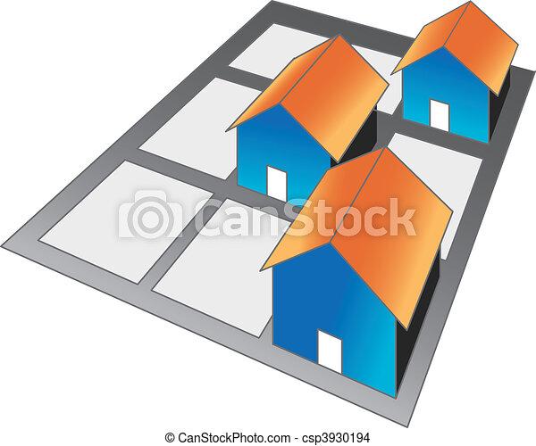 neighboor hood houses in street blocks rh canstockphoto com street clipart clipart street art