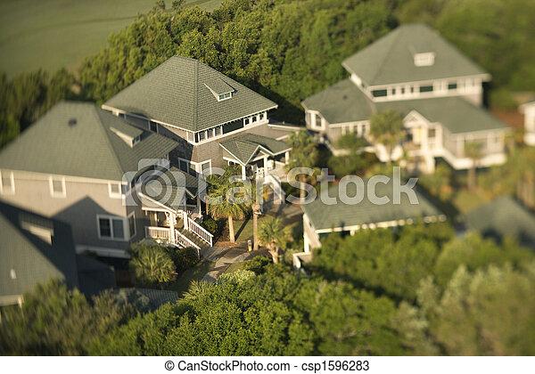 Neighborhood aerial. - csp1596283