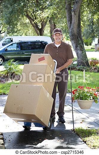 Neighborhood Delivery Man - csp2715346