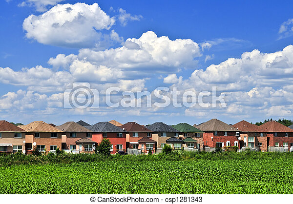 Neighborhood houses - csp1281343
