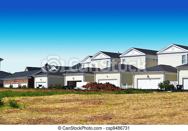 Neighborhood Under Construction - csp9486731